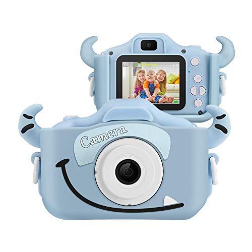 SoloKing Cámara para Niños con 12 Megapíxeles,Doble Lente,Pantalla LCD de 2.0 Pulgadas,Video HD de 1080P,32GB Tarjeta de Memoria Incluida,Regalos para Tres Reyes(Azul)