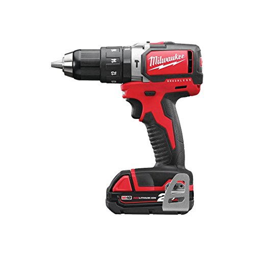 Milwaukee 4933448447 - M18 blpd-202c taladro percutor m18 brushless sin escobillas 18v, 60nm, 0-450/0-1800rpm, red lithium 2,0ah