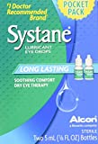 Systane Long Lasting Lubricant Eye Drops, Pocket Size Twin Pack, 5-mL Each