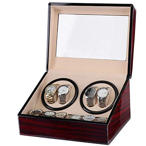 ZCYXQR Caja de Almacenamiento para Reloj de Pulsera para Hombres, Elegante Doble Viento automático con silencioso MotorSoft y FlexiblPillows