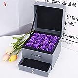 FENSIN Handgemachte Seifenblumen Blumenseife Seife Rose Blume Schmuck Aufbewahrungsbox Geschenke Box...