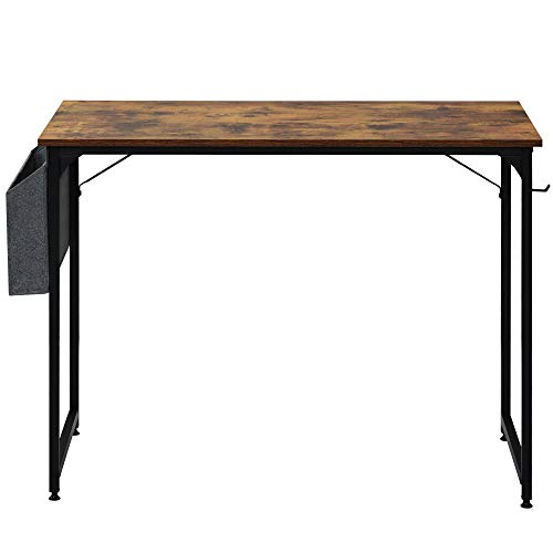 Mesa de escritorio para estudiantes, mesa de estudio, escritorio para ordenador portátil, para espacios pequeños, hogar, oficina, estación de trabajo (azul rústico)