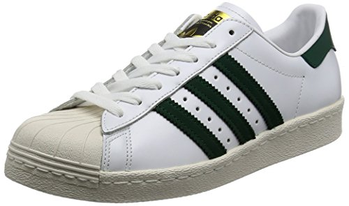 adidas Originals Superstar 80s Sneaker BB2230 White/Collegiate Green/Gold Gr. 42 2/3 (UK 8,5)