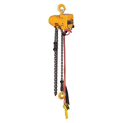 Harrington Hoists - TCR600P-10 - Air Chain Hoist, 600 lb. Load Capacity, 10 ft. Hoist Lift, Hook Mounted - No Trolley