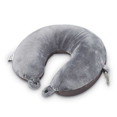 American Tourister Fleece Microbead Pillow - Black Gray