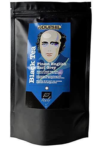 Duphil   Schwarztee Earl Grey Bio mit Bergamotte beste Qualität frischer Geschmack im Aromabeutel mit Zippverschluss   200g
