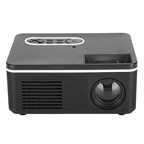Mini proyector, Mini proyector portátil S361, Proyector doméstico, Soporte LED portátil Minitype, Proyector de video Proyector de películas al aire libre, Soporte de entrada HDMI 1080P (EU plug )