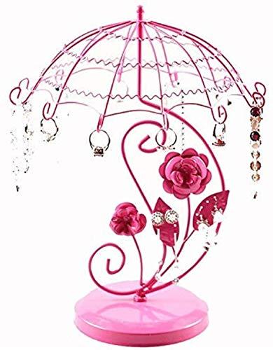GUOGUODA Árbol de joyería Cajas de joyería Pendientes de Paraguas Princesa Collar de joyería Soporte de Almacenamiento Joyería Pendientes de árbol Estante de exhibición Accesorios Soporte