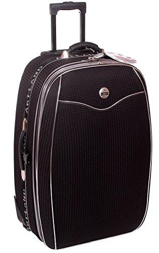 Reisekoffer XXL, Koffer, Trolley, mit Dehnfalte, schwarz