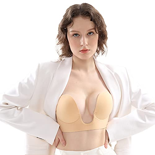 U type Invisible Bra for Women Reusable Adhesive Invisible Push Up Bra Adhesive Bra Invisible Wedding Dress Chest Stickers Invisible Backless Sticky Bras