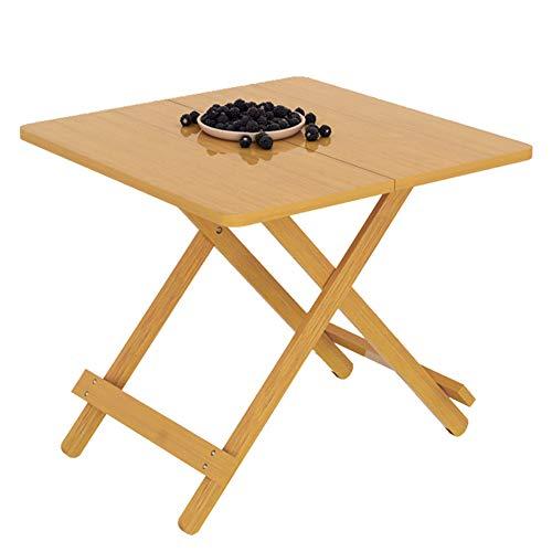 HYN Table Pliante en Bambou, 29,9 * 29,9 * 24 Pouces en Bois Massif Petit carré Tables à Manger Portable Table, Convient pour Pique-Nique, Plage, Mobilier d'extérieur