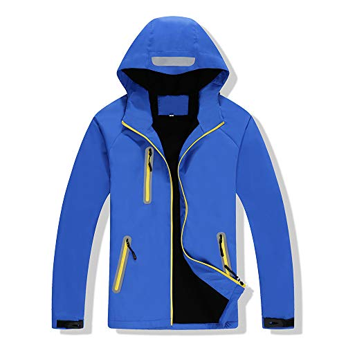LWGY Outdoor Jack, heren en vrouwen Winter Warm Ski Hooded Jas Outdoor Klimmen Windbreaker Jas Waterdichte Windproof Sportkleding met Rits