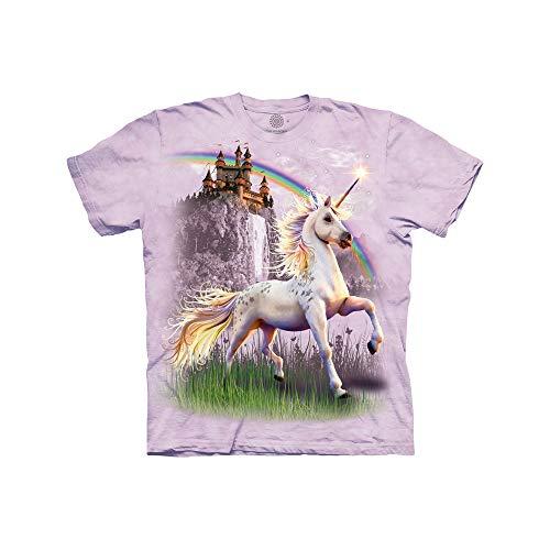 The Mountain Unicorn Castle Adult T-Shirt, Purple, Large