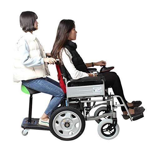 DLY Ältere Menschen mit Behinderung Faltbarer Elektrorollstuhl Kohlenstoffstahl Metallrahmen Kompakte Mobilitätshilfe Rollstuhl Leistungsstarker Motor Rollstuhl Polymer Liion Batterie (20A)