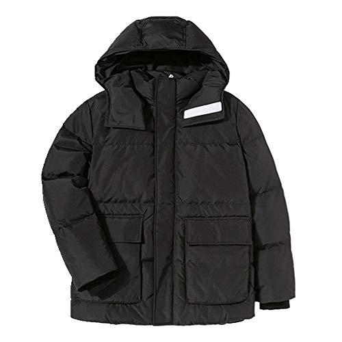 abajo chaqueta hombres jóvenes guapo grueso cálido adulto plumón abrigo hombre