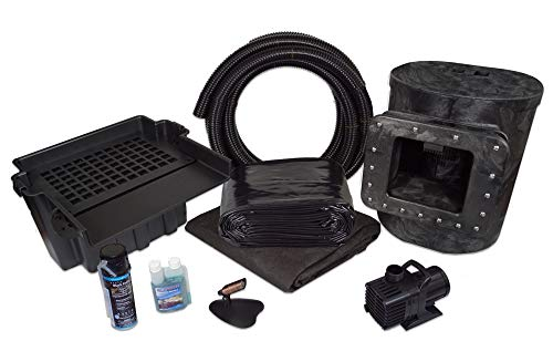 HALF OFF PONDS - Simply Ponds 4000 Water Garden and Pond Kit with 10' Skimmer, 16' Waterfall, 4,000 GPH Pump, 20 Foot x 25 Foot PVC Liner - PVCMAN0