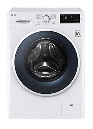 LG F14WM7EN0 Waschmaschine, freistehend, Frontlader, 7 kg, 1400 U/min, A+++, Weiß (freistehend, Frontlader, weiß, Drehknöpfe, Berührung, kalt und warm, 7 kg)