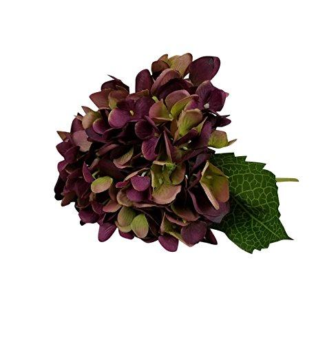 6 Piezas Hortensia Flores artificiales para ramo de novia y decoración de Boda Fiesta Navidad Hogar Claret