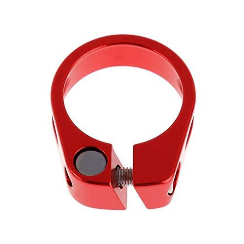 Homehome Abrazadera de aleación de aluminio para tija de sillín de bicicleta de montaña, abrazadera de liberación rápida para tija de sillín (31,8 mm, rojo)