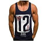 Camiseta de Tirantes Deportiva Hombre Tirantes Culturismo Fitness Deportiva. Ropa Deporte Masculina para Entrenar Gym