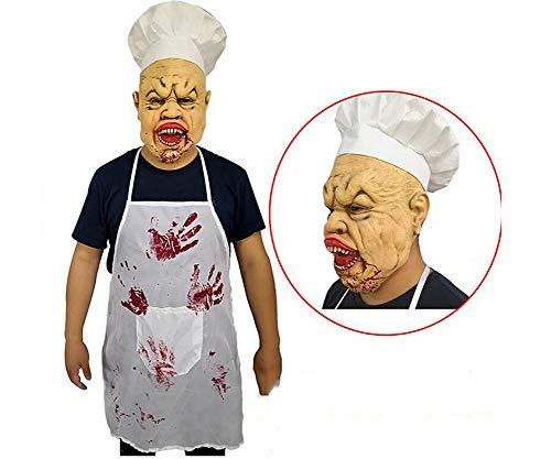 HANJIAJKL Doppelkinn Kopfbedeckung Latex Maske - Parodie Scary - Spiel Lustige Party Maske - Halloween Party,Masken/Partyhüte, Partymasken & Zubehör