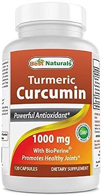 Best Naturals Turmeric Curcumin 1000 mg Bioperine 5 mg 120 Capsule by Best Naturals