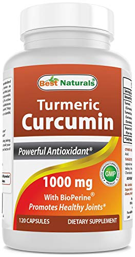 Best Naturals Turmeric Curcumin with Bioperine 1000 mg 120 Capsules