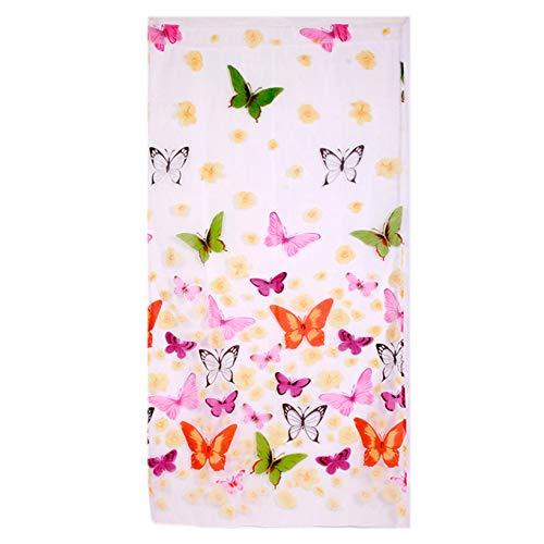 GOMYIE Tür Fenster Balkon Vorhänge Schmetterling Druck Voile Sheer Vorhang Panel