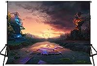 HD 7x5ftアニメゲームのテーマパーティーの背景ゲーマーをテーマにしたパーティーの写真撮影の背景神秘的な空ロボットモンスターの背景男性写真プロップスタジオMBLHFH98