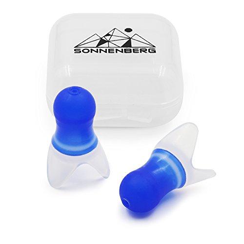 Sonnenberg Ohrstöpsel (1 Paar) aus weichem Silikon - Gehörschutz ideal für die Reise - hilft beim Druckausgleich im Flugzeug …