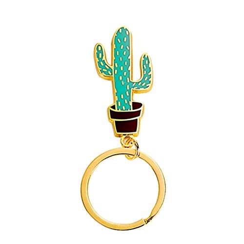 CAOLATOR Porte-clefs Cactus Femme Porte-cl/és Paillette 10cm Belle et /él/égante Sac Voiture Pendentif D/écoration(Couleur)