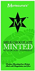 Milk chocolate with crunchy peppermint Made with care in the UK Montezuma's have ethical principles of 'trading fairly'