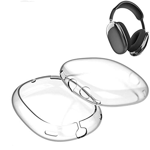AiMok Funda Compatible con Apple AirPods MAX, Suave TPU Anti-Rasguños a Prueba de Polvo choques Transparente Protectora Cover para AirPods MAX