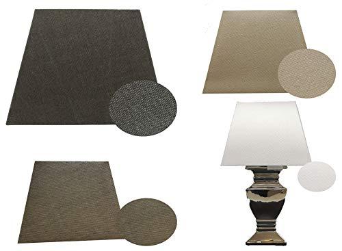 Lampenschirm für Stehlampe Stoff eckig E 27 Schirm Tischlampe Textil (Weiß)