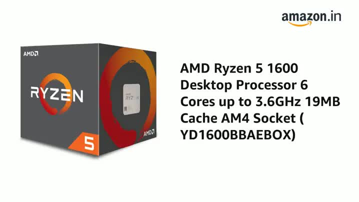 Amazon In Buy Amd Ryzen 5 1600 Desktop Processor 6 Cores Up To 3 6ghz 19mb Cache Am4 Socket Yd1600bbaebox Online At Low Prices In India Amd Reviews Ratings