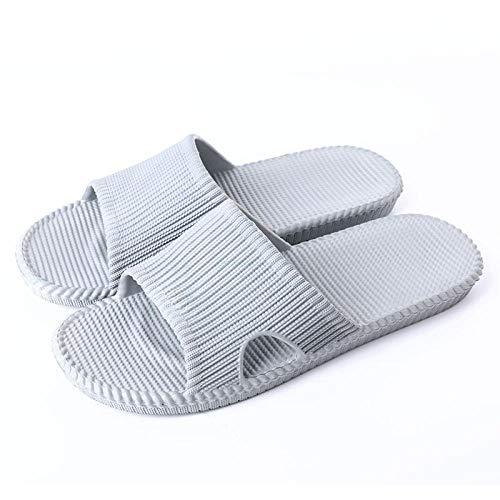 Flip Flops Sandal,Sandalias de Verano Antideslizantes para el hogar, Suaves Zapatillas de baño Antideslizantes-Gris Claro_41-42,Chanclas Unisex para Adultos