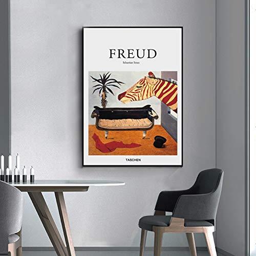 SDFSD lijn canvas kunst schilderijen op de muur abstract zebra dieren wandposter schilderij print muurkunst Home woonkamer decoratie pop 40X50CM Q