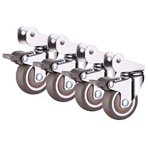 Flashing lights F- 4 stuks Silent Crib Wheel Accessoires wielen Universele fiets Flip Splint Wheel Kinderbed Babybed Pulley Roller met bevestigingsschroeven