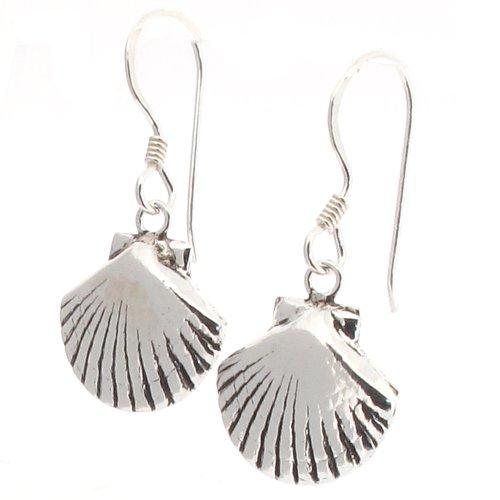 Touch Jewellery - Orecchini a pendente a forma di conchiglia in argento Sterling