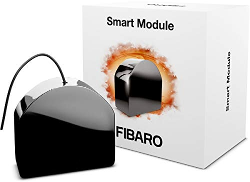 FIBARO Single Smart Module/Z-Wave Plus Relaisschalter, Drahtloser Ein-Aus-Auslöser, FGS-214