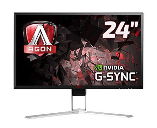 AOC Agon AG241QG 60,5 cm (23,8 inch) monitor (HDMI, USB-hub, Displayport, 1ms reactietijd, 165 Hz, 2560x1440, Nvidia G-Sync) zwart/rood