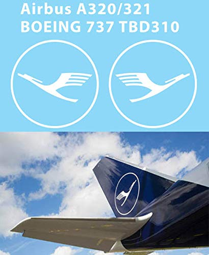 1/144 Decals New Lufthansa Tail Logo Airbus A320 A321 Decal TBD310