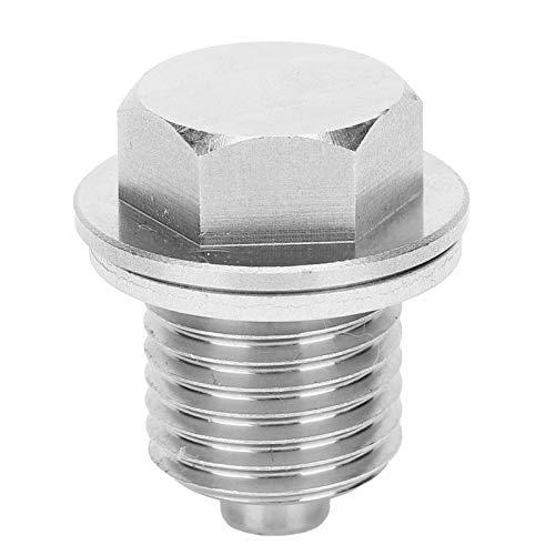 EXID Ablassschraube Edelstahl Magnetische Ablassschraube Ölwanne Ablassschraube Schrauben für Auto Universal