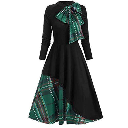 SEEGOU Kleid für Damen Fashion Plus Size Abendkleider Lace Up Velvet Weihnachtskleid...