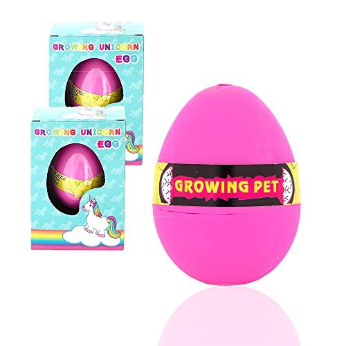 Sunmondo 2 x växande enhörning – kläckning ägg: Från det magiska ägget kläcks i vattnet EN baby enhörning