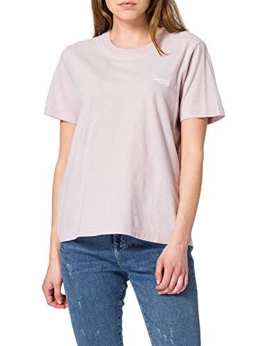 Superdry OL Classic tee Camiseta, Tiza Pink Feeder, XL para Mujer