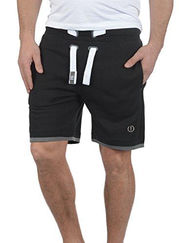 !Solid BenjaminShorts Herren Sweatshorts Kurze Hose Jogginghose Mit Fleece-Innenseite Und Kordel Regular Fit, Größe:M, Farbe:Black (9000)