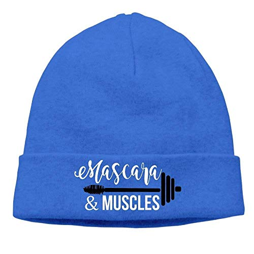 MLNHY Unisex Beanies Caps Muscles and Mascara Skull Hats Soft Hedging Cap