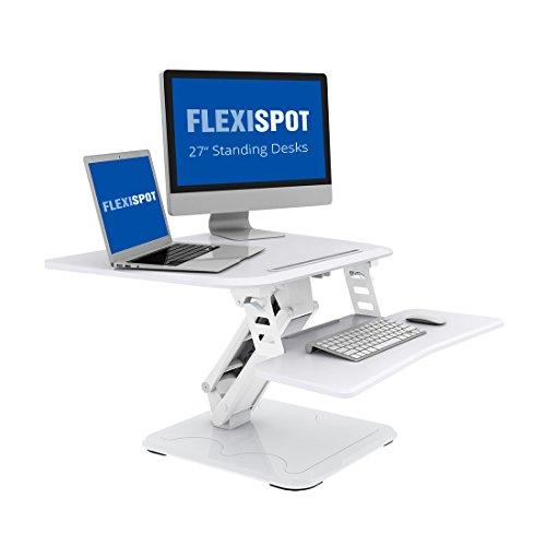 Flexispot F3W Höhenverstellbarer Schreibtisch Sitz-Steh-Schreibtisch Steharbeitsplatz Computertisch Weiß Neu