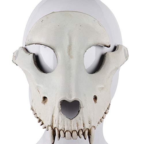 Amosfun Sheep Head Mask Halloween Sheep Skull Cosplay Mask Halloween Party Horror Mask for Cosplay Party Props (Beige)